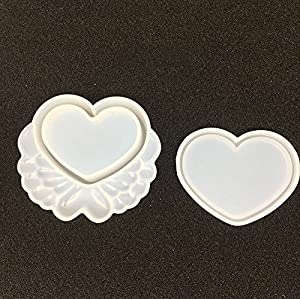 Yalulu 4pcs Storage Box DIY Silicone Mold Jewelry Resin Jewellery Box Casting Mould for DIY Craft Making (Color: White)