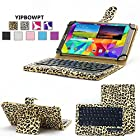 YIPBOWPT Universal 7-8 inch Tablet Portfolio Protective PU Leather leopard print Case Covering With Removable Detachable Wireless Bluetooth Keyboard for Samsung Galaxy Note 8.0 / Tab 2 7.0 / Tab 3 7.0 / Tab 3 8.0 / Tab 4 7 inch / Acer A1-810 / W3-810 / iPad Mini / New iPad Mini Retina Display / Asus Memo Pad HD 7 / Dell Venue 8 Pro / Nexus 7 / Nexus 7 HD Support Android / IOS / Windows Systems Tablet.Color:Yellow Leopard Print