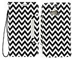 myLife Dark Black and Bright White {Classic Chevron Design} Faux Leather (Card