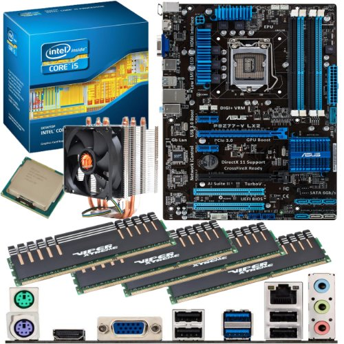 INTEL Core i5 3570K OC 4.4Ghz, ASUS P8Z77-V LX2, 16GB 1600Mhz DDR3 Patriot Viper Xtreme Division 2 Performance Memory & ThermalTake Contac21 Cooler OVERCLOCKED Bundle