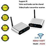 MEASY AV240 2.4GHZ 8 Channels AV Wireless Audio Video Transmitter & Receiver up to 400M/1330FT