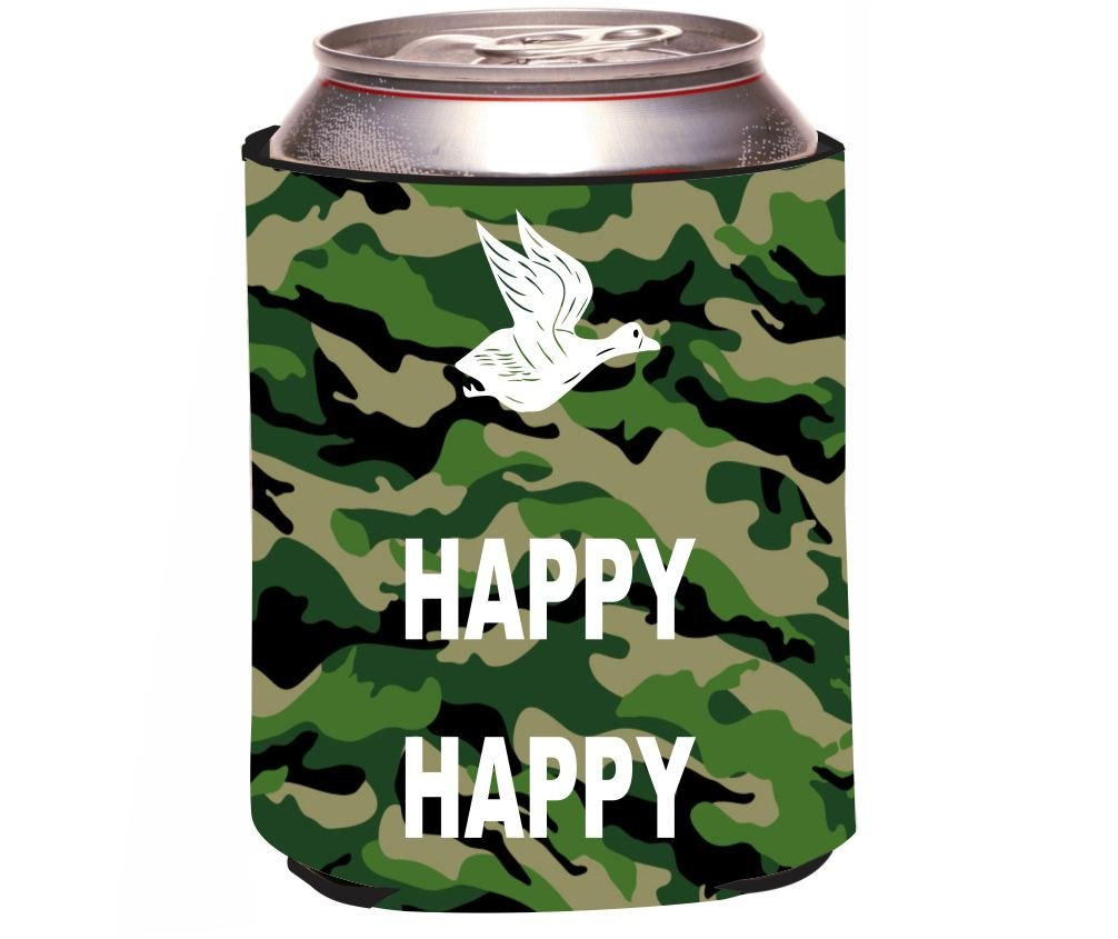 Rikki Knight Happy Happy Happy White on Combats Design Beer Can Soda Drinks Cooler Koozie ncaa central florida knights aztec can koozie set of 4