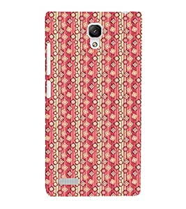 Fuson Premium Back Case Cover Stylish pink pattern With Yellow Background Degined For Xiaomi Redmi Note::Xiaomi Redmi Note 4G