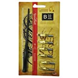 Speedball Lettering & Drawing Round Pen Nibs B Style assorted,Multi,set of 6 (Color: Multicolor, Tamaño: SET)