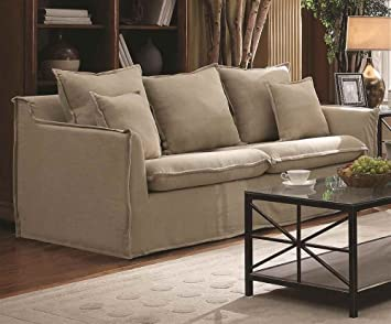 Contemporary Sofa with Flange-Trimmed