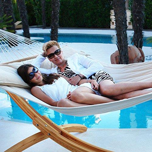 Lola Hängematte American Hammock Lifestyle, beige-weiß, gefüttert, mit Kissen, wetterfest günstig online kaufen