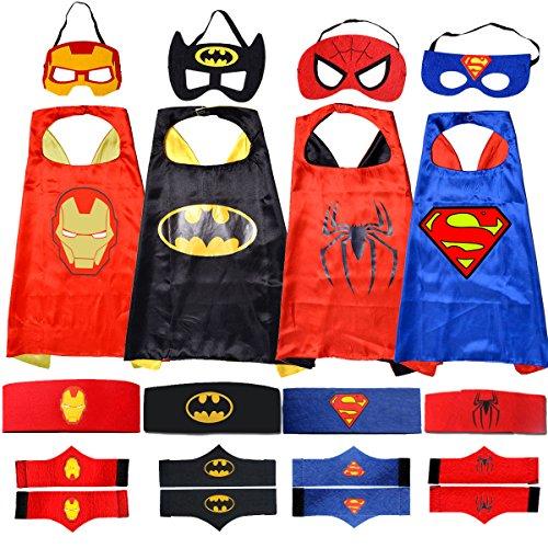 Apriller CAPE MASQUE Superhero Superman Enfants Garçon Fille Déguisement Costume Soirée Costume Halloween