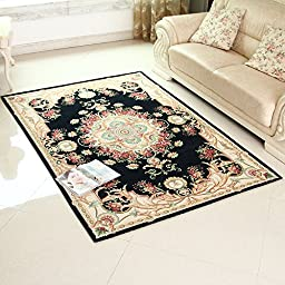 XH@G Carpet floor mats bathroom bedroom carpet mat kitchen absorbent mat , deep blue , 60*90cm