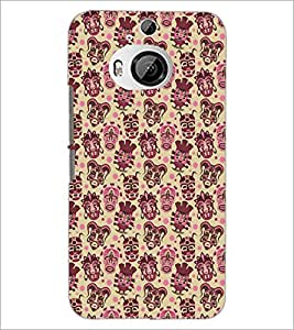 PrintDhaba Pattern D-5463 Back Case Cover for HTC ONE M9 PLUS (Multi-Coloured)