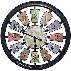 Westclox 36014 Color Panel Round Quartz Wall Clock, 18.5-Inch