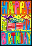 Happy Birthday Presents Large House Flag 28 x 40