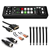 Roland V-1HD HD Video Switcher + Dual RCA Cable + Speed HDMI Cable + Black MIDI Cable + Strapeez, Black - Ultimate Accessory Bundle