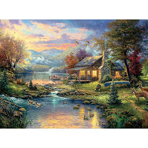 Natures Paradise Thomas Kinkade 1000 Piece Puzzle (Nature Puzzle 1000 compare prices)