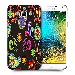 Snoogg Multicolor Abstract Pattern Printed Protective Phone Back Case Cover ForSamsung Galaxy E7