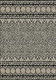 Area Rug, Gray Southwestern Tribal Stain Resistant Carpet, 7\' 10\