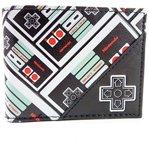 Nintendo NES Patterned Nero portafoglio