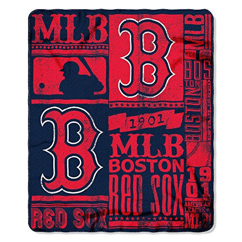 Boston Redsox MLB Strength Fleece Throw Blanket 50 x 60 (Red Sox Mlb compare prices)
