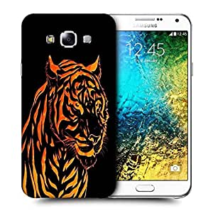 Snoogg Fury Tiger Printed Protective Phone Back Case Cover ForSamsung Galaxy E7