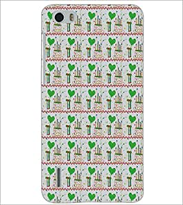 HUAWEI HONOR 6 HEART PATTERN Designer Back Cover Case By PRINTSWAG