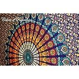Rajasthali Colors of Rajasthan Mandala Multi Purpose Cloth, 95 x 85 Inch