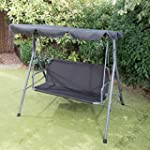 3 SEATER BUCKINGHAM SWING HAMMOCK BLACK
