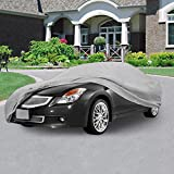 """NEH® SUPERIOR TRUE 100% WATERPROOF CAR COVER COVERS MID SIZE SEDAN - ALL SEASON PROTECTION - GRAY COLOR - 3x PILLOW SOFT INNER COTTON LAYER (FITS LENGTH 170"""" - 190"""")"""