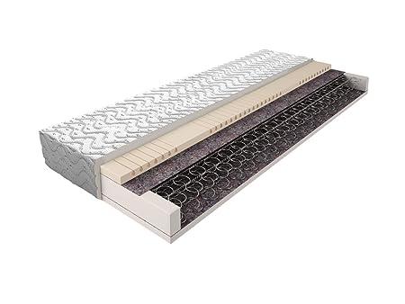 Matratze mit Bonellfederkern 019 - Größe: 90 x 200 cm, Höhe: 17 cm