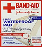 Band-Aid First Aid Pads, Large Waterproof Gauze Pad, 6 Count (Pack of 6)