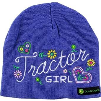 "Amazon.com: John Deere ""Tractor Girl"" Purple Knit Beanie"