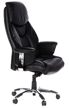ᑐ Image Du Produit  Hjh Office Prado Siège de bureau type fauteuil de  direction - Simili cuir - Noir 1f4a14253cb