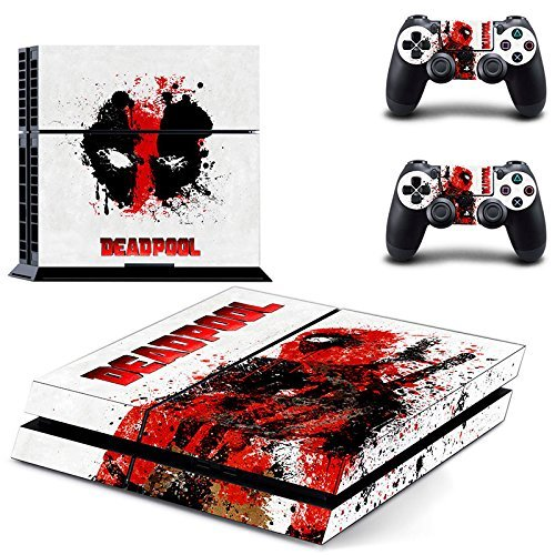 CloudSmart-Deadpool-Sony-Playstation-4-Skin-Sticker-Vinyl-Stickers-for-PS4-Console-x1-Controller-Skins-x2-by-CloudSmart