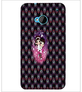 PrintDhaba Couple D-2674 Back Case Cover for HTC ONE M7 (Multi-Coloured)