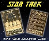 "STAR TREK ""30 YEAR ANNIVERSARY 4 CAPTAINS MEMORABLE MOMENTS"" 23KT GOLD CARD! ONLY 10,000!"