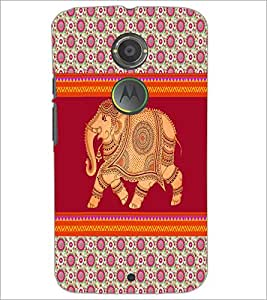PrintDhaba Elephant D-3348 Back Case Cover for MOTOROLA MOTO X2 (Multi-Coloured)