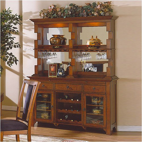 ECI Furniture Mandarin Storage Credenza with Hutch 3056-20-CRBB / 3056-20-CRBH