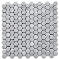 Carrara White Italian Carrera Marble Hexagon Mosaic Tile 1 inch Honed from Stone Center Online