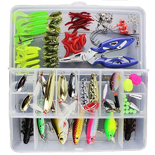 Smartonly-Fishing-Lure-Set-Kit-Freshwater-Saltwater-Topwater-Frog-Lures-Soft-Lure-Hard-Metal-Lure-VIB-Rattle-Crank-Popper-Minnow-Pencil-Hook-in-Free-Plastic-Box