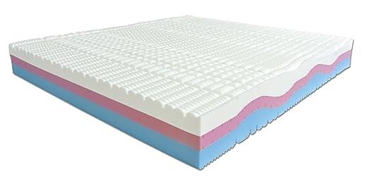 Baldiflex Materasso Singolo Memory Foam 3 strati Sweet Armony - 190 x 80 x 25 cm - Cuscino incluso riv. Silver Safe