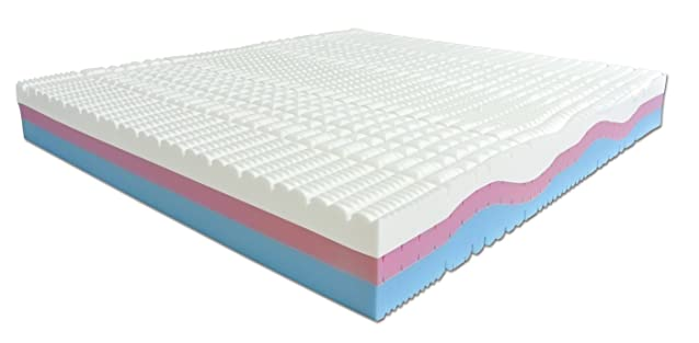 Baldiflex Materasso Memory Foam 3 strati Sweet Armony - 200 x 170 x 25 cm - Cuscini inclusi riv. Aloe Vera