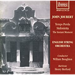Joubert - Temps Perdu;Sinfonietta; The Instant moment