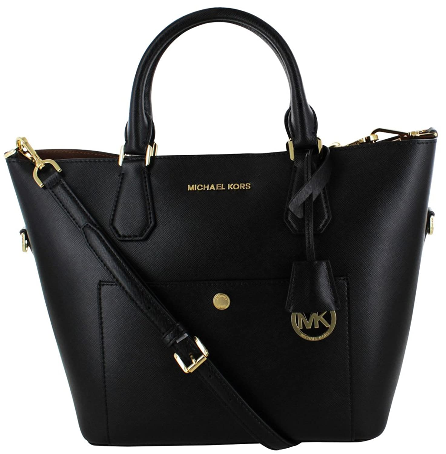 michael kors 358 greenwich large leather grab bag handbag. Black Bedroom Furniture Sets. Home Design Ideas