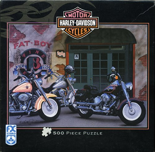 500 Piece Jigsaw Puzzle - Harley Davidson Fat boy