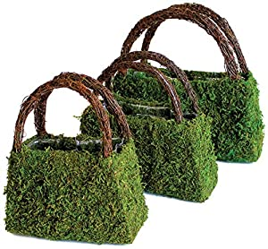 Super Moss Products Deco Purse Wicker Handle Set, Pack of 3 by BFG Supply