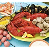 Lobster Gram BSGR4Q BOSTON PARTY GRAM DINNER FOR FOUR WITH 1.25 LB LOBSTERS by Lobster Gram