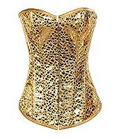 Valin Noble Golden Yellow Bustier Corset,Gold