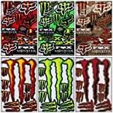 6 Rockstar Energy Drink Metal Mulisha Yamaha Motocross Kawasaki Racing Helmet Motorcycle Decal Sticker