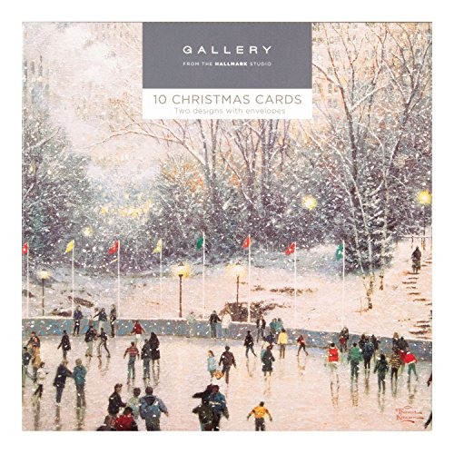 hallmark-carte-de-noel-galerie-pack-snowy-scene-10-cartes-2-designs
