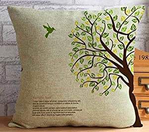 Yecz Heart-shaped Cotton Linen Retro Home Decorative Throw Pillow Cover Cushion Case from buoluo