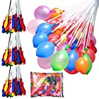 Magic Water Balloons 3 Bunchs + 3 Refill Packs Quick Fill 100+ Balloons in under 1 Minute - Pre Tied