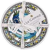 Le Cadeaux Catalina Appetizer Plate - Blue - 4 ct